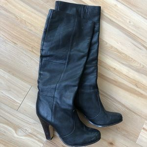 designer leather boots (slouchy)
